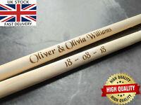 🔥Engraved Personalised Drumsticks Drum Sticks Surprise Wedding Birthday Gift 5A