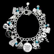 ~CAT THEMED PERSONALISED NAME CHARM BRACELET, CUSTOM, KITTY ~