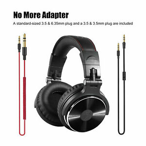 OneOdio Adapter-Free DJ Stereo Headphones Closed Back Over-Ear Monitor Headset