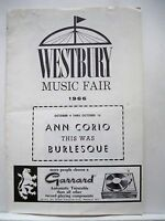 THIS WAS BURLESQUE Playbill ANN CORIO / STEVE MILLS Tour WESTBURY, NY 1966