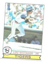 1979 Topps Lou Whitaker 123 Detroit Tigers Baseball Card