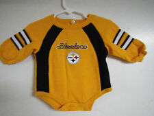 PITTSBURGH STEELERS BABY SLEEPER OUTFIT SIZE 3-6 MONTHS MINT CONDITION