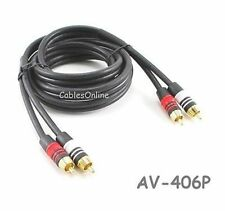6-ft Premium 2 RCA Plug to 2 RCA Plug 22AWG Audio Cable, AV-406P