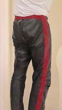 Fetisch Lederhose Speckiges Leder, Gay Durchgängiger Reißverschluss rot schwarz