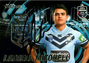 ✺Signed✺ 2019 SYDNEY ROOSTERS NRL Card Premiers LATRELL MITCHELL State Of Origin