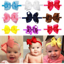 Big Baby Girl Hairband Bow Soft Knot Elastic Band Headband Flower Hair Headwear
