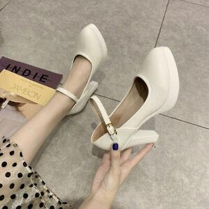 Fashion High Heels Party Wedding Shoes Women's Platform Pumps Thick Heels