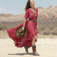 Women Long Boho Maxi Chiffon Dress Formal Party Prom Summer Beach Dress Sundress