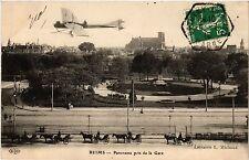 CPA Reims Panorama pris de la Gare (490770)