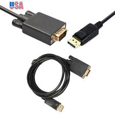 6ft DP to VGA cable DisplayPort Male to VGA Male Cable PC Laptop to Display TV