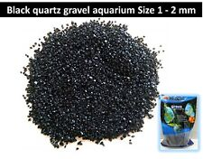 Quartz black gravel aquarium 1 - 2mm / 200g / 400g tank Cichlids plants tropical