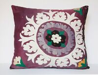 24X26 Suzani pillow,lumbar pillow,vintage pillow,floral pillow,Needlework pillow