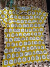 Retro  vintage style EJ VERDI Shirt/Top Size 10 Linen. Mustard New and sealed
