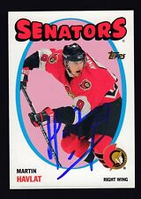Martin Havlat Hand Signed 2001-02 Topps Hockey Card #93 Senators