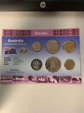 AUSTRALIA 6 COINS SET: 5, 10, 20, 50 CENTS, 1, 2 DOLLARS 2011-2012 UNC