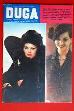 BRIGITTE BARDOT ON FRONT COVER 1961 RARE EXYU MAGAZINE