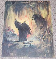vintage Frank Frazetta Sorcerer and Beast Fantasy Poster Fairfax Prints 1979