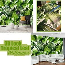 3D Textile Tropical Leaf Wallpaper Wall Murals Covering For Bedroom Living Room
