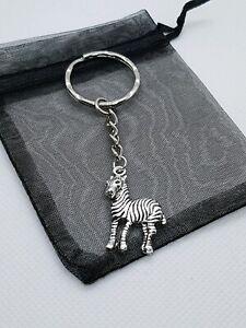 Zebra Keyring, Zebra gifts, party bag fillers, Zebra  lover
