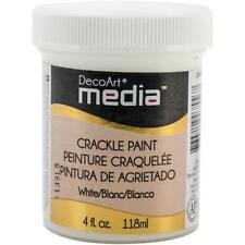 DecoArt Media Crackle Paint 4oz (118ml) - White DMM15