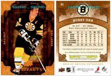 UD ARTIFACTS 2008 BOBBY ORR NHL BOSTON BRUINS SUPERSTAR LEGEND MINT CARD #91