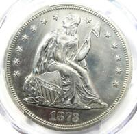 1873 Seated Liberty Silver Dollar $1 - PCGS AU Details - Final Year Coin!
