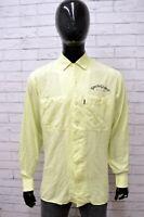 Camicia POOH Uomo Taglia Size XL Maglia Chemise Shirt Man Maniche Lunghe Slim