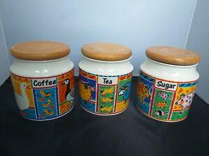 Dunoon Stoneware Farmyard Tea Coffee Sugar Kitchenware by Jane Brookshaw