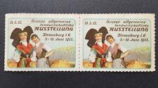 Landwirtschaftliche Ausstellung Strassburg 1913 Cinderella Poster Stamp (7585)