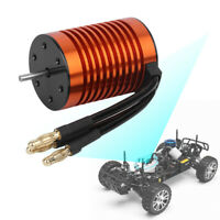 3300KV F540 Waterproof 4 Pole Non-Inductive Motor Accessory Kit for 1//10 RC Car
