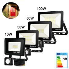 LED Fluter Bewegungsmelder 10W/30W/50W/100W Außen Strahler Lampen Scheinwerfer