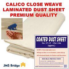 Calico Plain Weave 100% Cotton Laminated HEAVY WT Drop Cloth Canvas Waterproof