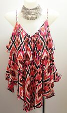 Talisman Blossom Top in Cabana Print.  Sleeveless Summer Tops Size S/M