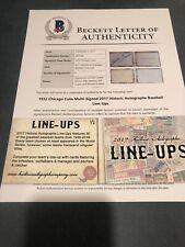 1932 Chicago Cubs Infield 1/2 2017 Historic Autographs Line Ups