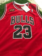 NBA Finals Michael Jordan Jersey ! LAST SHOT  Classic 84 Small Medium XL 2XL,