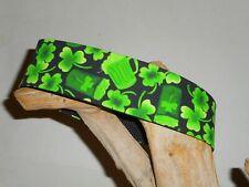 "Shamrocks & Green Beer Custom Made Martingale Dog Collar - 2"", 1 1/2"""