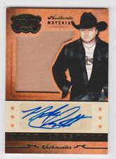2014 Panini Country Music Silhouette Gold Sig/Mat #SIMC Mark Chesnutt/10