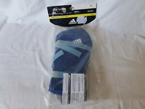 Adidas Martial Arts Shin Pads Kick Boxing (MMA, Muay Thai) ADIBP07, Blue,Size XL