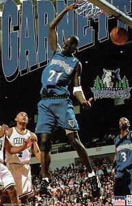 "Rare HTF KEVIN GARNETT STARLINE POSTER ""GARNETT"" 22 x 35 Minnesota Timberwolves"