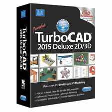 TurboCAD Deluxe 2015 2D CAD & 3D Modeling (recognizes drawing from AUTOCAD.DWG)