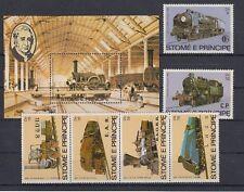 D. Eisenbahn - Lokomotiven   Sao Tome E Principe  808 - 13 + Block 113 **  (mnh)
