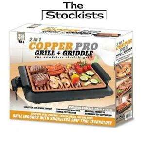 Copper Pro 2 in 1, Grill & Griddle-The Smokeless Electric Grill