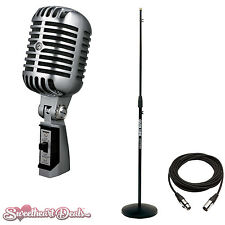 Shure 55SH Series II Iconic Unidyne Vocal Microphone Bundle (The Elvis Mic)