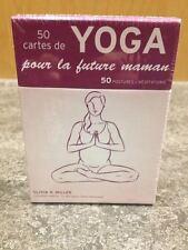 Carte illustree yoga pour femme enceinte future maman posture et meditation neuf