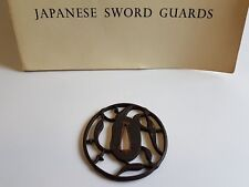 Antique Iron Tsuba Edo Era Japanese Sword Guard Samurai Katana Original Rare 12