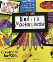 Faber Castell Do Art Modern Masterpieces Art Set Activity Watercolor Pencils New