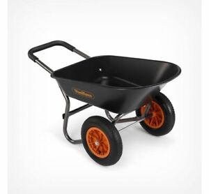 78L Wheelbarrow - Two Wheeled Heavy Duty Garden Waste Transportation