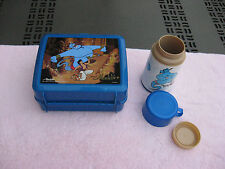 Vintage Disney'S Aladdin Plastic Lunchbox With Thermos Bottle