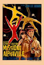 1960's Sci-Fi  * Alphaville  *  Jean-Luc Godard Italian Movie Poster 1965
