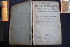 livre ancien nouveau dictionnaire de la langue françoise française Marguery 1818